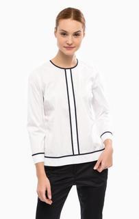 Белая хлопковая блуза с контрастными вставками Lion OF Porches