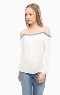 Блуза из вискозы с контрастной нашивкой Mavi