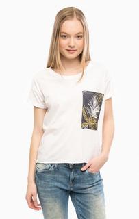 Трикотажная футболка с контрастным карманом Mavi