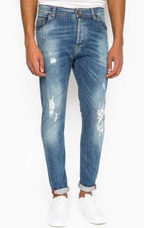 Рваные зауженные джинсы Liu Jo Uomo
