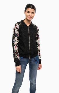 Кружевная куртка на молнии с вышивкой Desigual