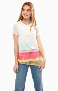Разноцветная футболка с вышивкой Desigual