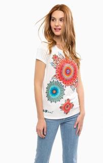 Трикотажная футболка с круглым вырезом Desigual