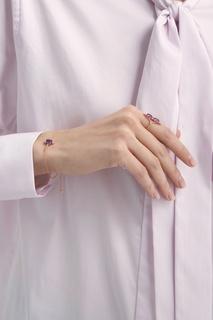 Позолоченный браслет с аметистом Moonka Studio