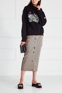 Шелковая юбка-карандаш J.Kim