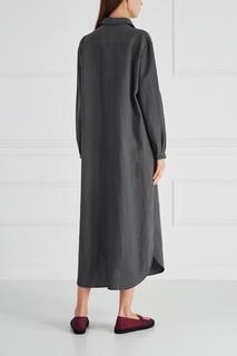 Платье из хлопка и льна Cyrille Gassiline