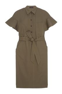 Хлопковое платье-рубашка Chapurin