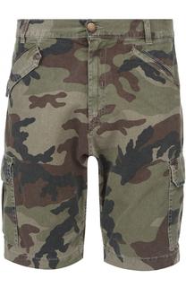 Хлопковые шорты с камуфляжным принтом 2 Men Jeans