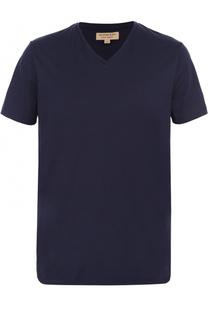 Хлопковая футболка с V-образным вырезом Burberry