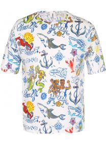 Хлопковая футболка с принтом Robinson Les Bains