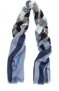 Льняной шарф с необработанным краем Burberry