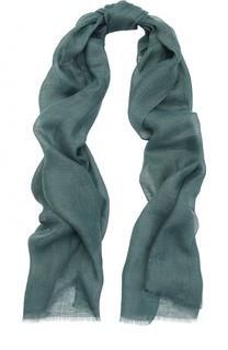 Льняной шарф с необработанным краем Brioni