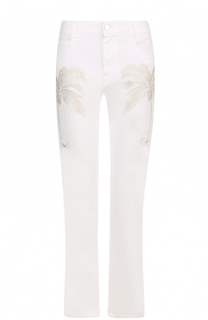 Укороченные расклешенные джинсы с вышивкой Stella McCartney