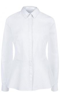 Приталенная хлопковая блуза в полоску HUGO