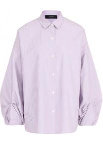 Блуза свободного кроя с драпированными рукавами Joseph