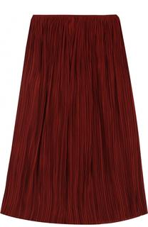 Шелковая плиссированная юбка-миди The Row