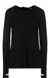Пуловер свободного кроя с открытой спиной Helmut Lang