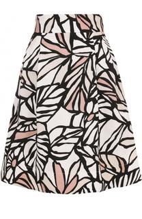 Мини-юбка с карманами и принтом HUGO