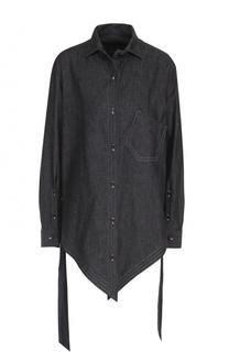 Джинсовая блуза асимметричного кроя Yohji Yamamoto