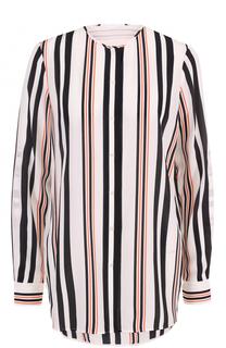 Блуза в полоску с круглым вырезом HUGO