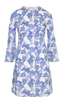 Мини-платье с ярким цветочным принтом Francesco Scognamiglio