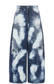 Широкие джинсы с потертостями Dsquared2