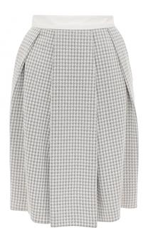 Мини-юбка в складку с карманами Armani Collezioni