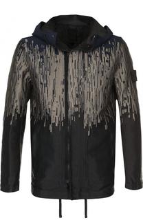 Куртка на молнии с контрастной отделкой Stone Island