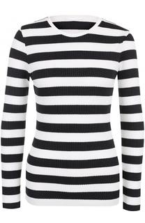 Пуловер фактурной вязки в полоску HUGO