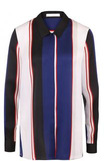 Блуза прямого кроя в полоску HUGO
