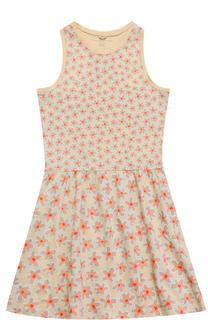 Хлопковое платье без рукавов с принтом Stella McCartney
