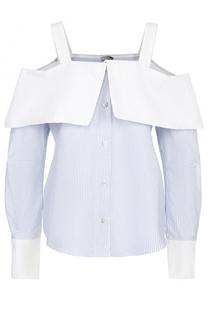 Блуза в полоску с открытыми плечами Clu