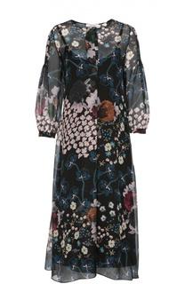 Шелковое платье свободного кроя с цветочным принтом Dorothee Schumacher