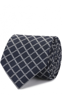 Шелковый галстук в клетку HUGO