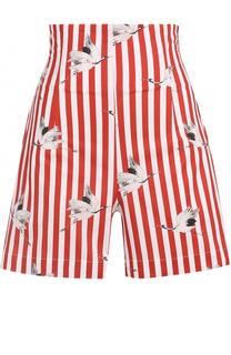 Мини-шорты в полоску с завышенной талией Stella Jean