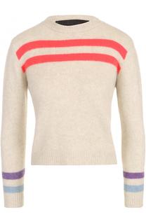 Укороченный кашемировый пуловер с круглым вырезом The Elder Statesman