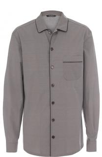 Рубашка из смеси хлопка и шелка в пижамном стиле Dolce & Gabbana