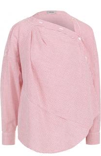 Блуза асимметричного кроя в полоску Rachel Comey
