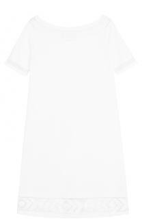 Мини-платье с полупрозрачными вставками D.Exterior