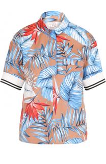 Хлопковая блуза с цветочным принтом Stella Jean