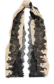 Шерстяной палантин с кружевными вставками Vintage Shades