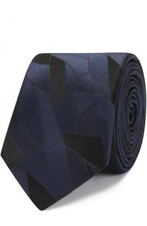 Шелковый галстук с узором BOSS