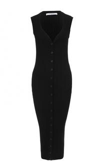 Удлиненный вязаный кардиган без рукавов Givenchy