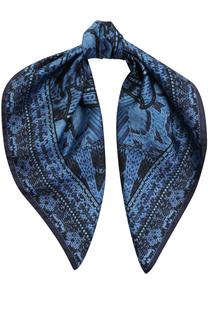 Шелковый платок с принтом Roberto Cavalli