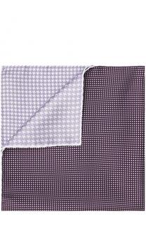 Шелковый платок с узором Lanvin