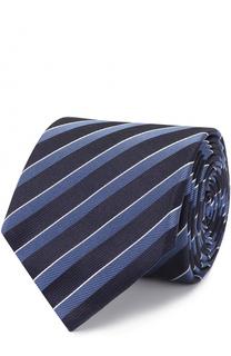 Шелковый галстук в полоску BOSS
