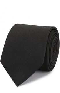 Шелковый галстук с контрастной вышивкой HUGO