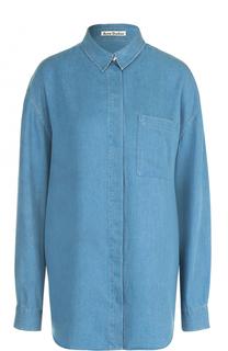 Удлиненная джинсовая блуза прямого кроя Acne Studios