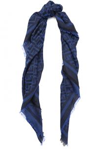 Платок из смеси хлопка и шерсти с шелком Fendi