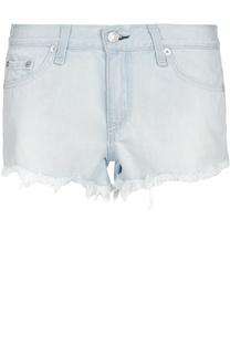Джинсовые мини-шорты с бахромой Rag&Bone Rag&Bone